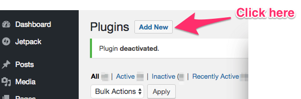 adding new plugin on wordpress