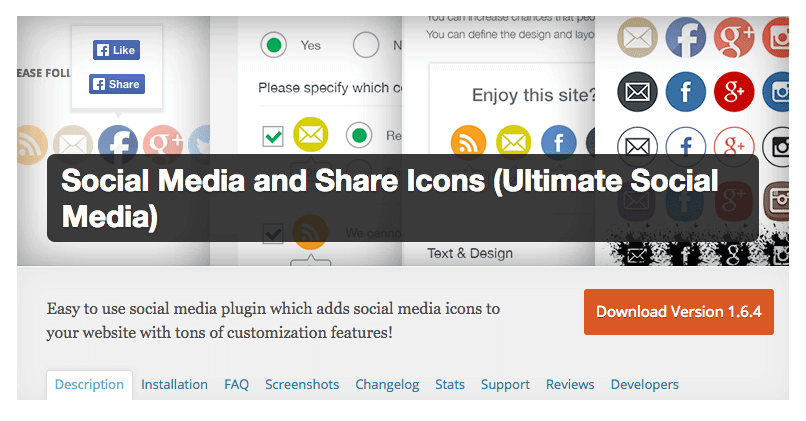 social media share and icon wordpress plugin