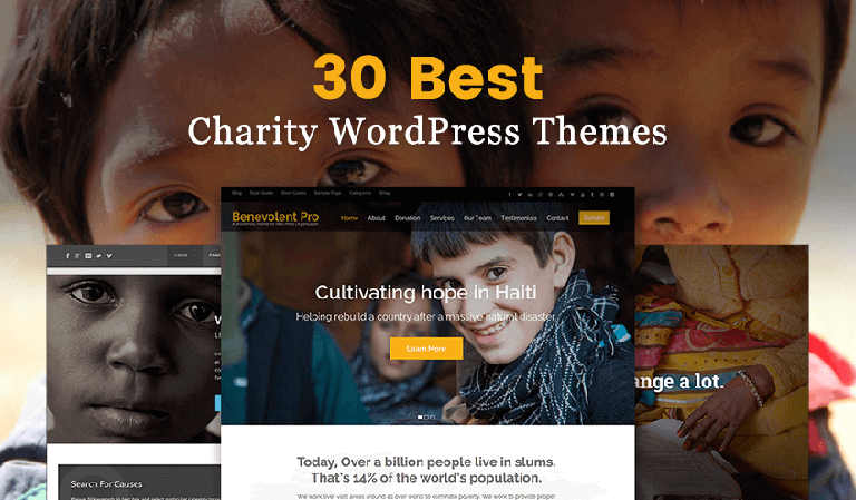 30 Best Charity WordPress Themes