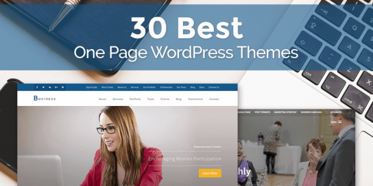 30 Best One Page WordPress Themes