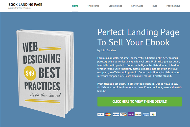 8. Book Landing Page