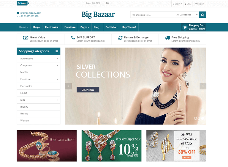25+ Best Jewelry Responsive WordPress Themes of 2017 - RaraTheme