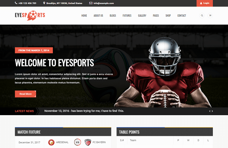 25+ Best Sports Responsive WordPress Themes of 2017 - RaraTheme