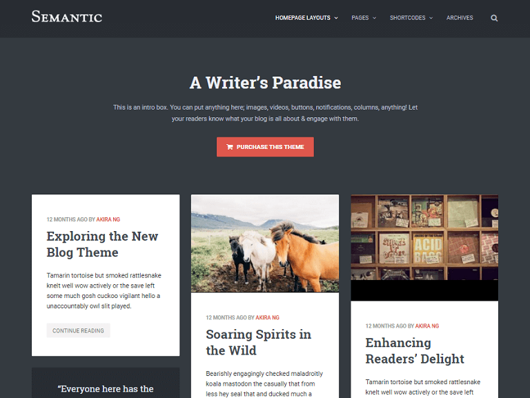 semantic wordpress theme Top Result 60 Awesome Wordpress Templates for Authors Picture 2017 Xzw1