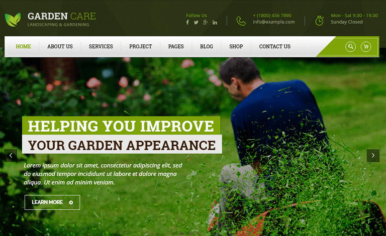 Garden Care Theme Has Beautifull And Unique Design That Will Be Best Suited  For Your Online Web Presence. It Has 100% Responsive Design And Tested On  All ...