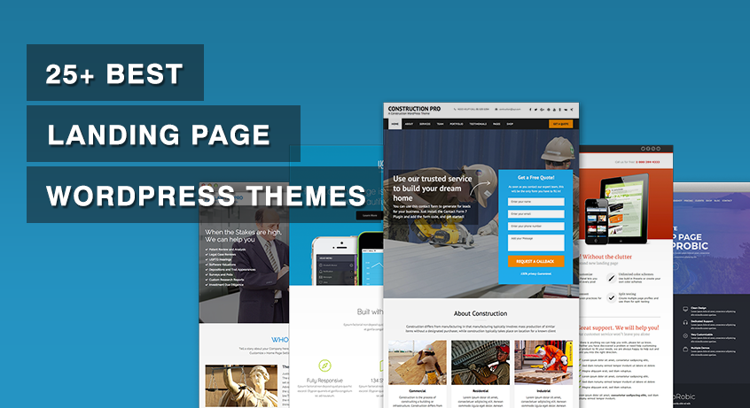 25+ Best Landing Page WordPress Themes 2017 (Free and Premium)