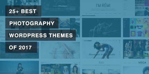 25+ Best Photography WordPress Themes of 2017