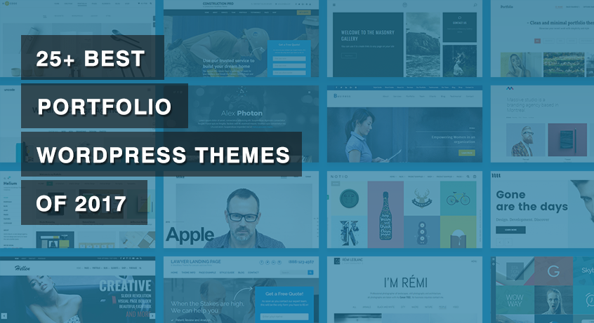 25+ Best Portfolio WordPress Themes of 2017