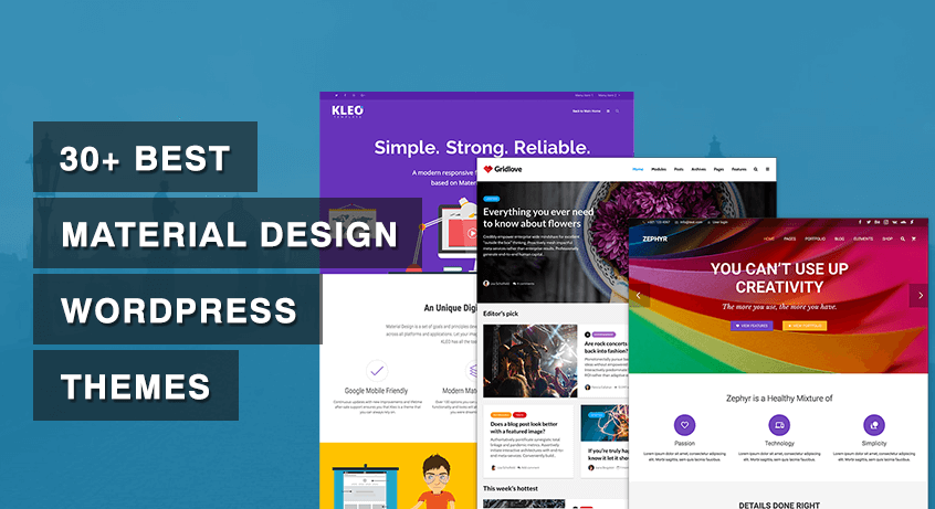 30+ Best Material Design WordPress Themes
