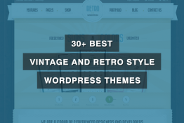 Best Vintage and Retro Style WordPress Themes