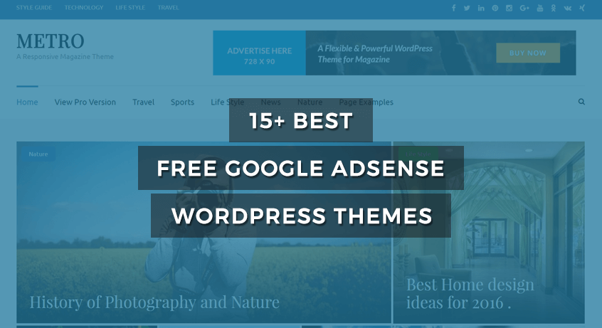 15+ Best Free Google AdSense WordPress Themes of 2017 -RaraTheme