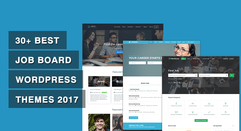 30+ Best Job Board WordPress Themes 2017