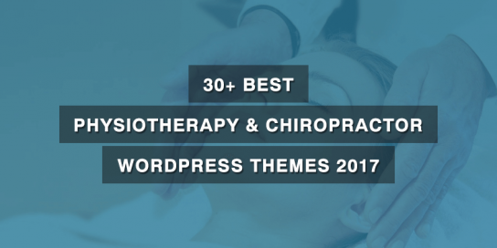 30+ Best Physiotherapy & Chiropractor WordPress Themes 2019