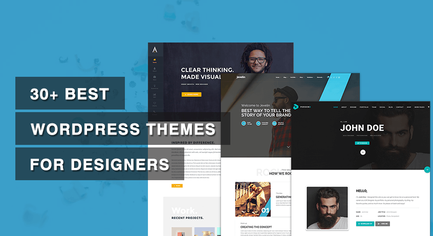 30+ Best WordPress Themes for Designers
