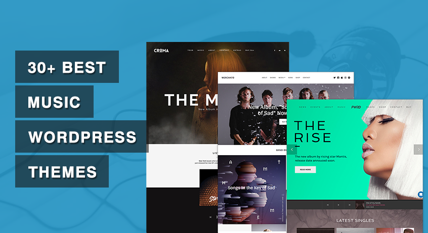 30+ Best Music WordPress Themes