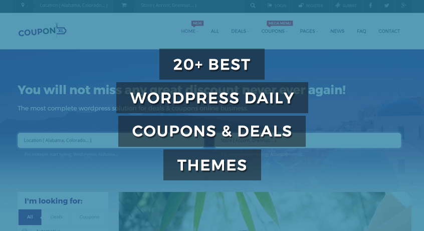 best WordPress coupons and deals themes