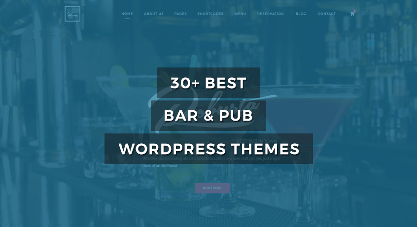 30+ Best Bar & Pub WordPress Themes