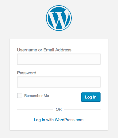 wordpress backend login