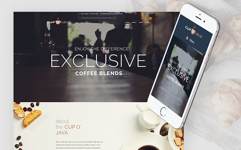 Cup o' Java - Coffee Shop WordPress Theme