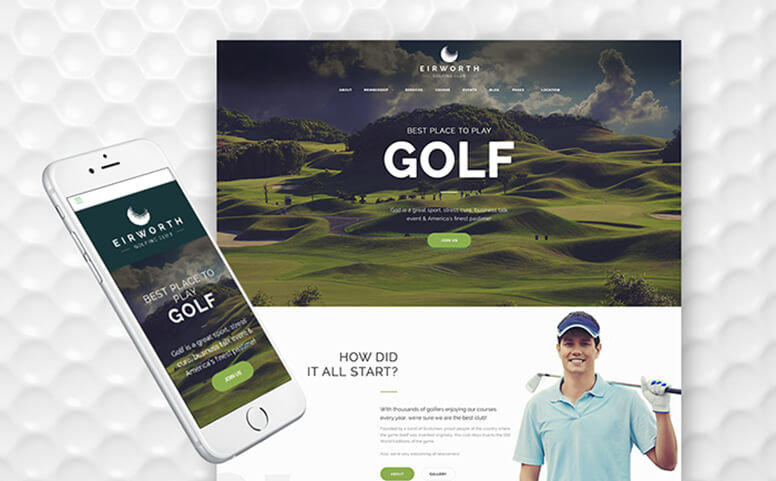 Eirworth - Golfing Club WordPress Theme