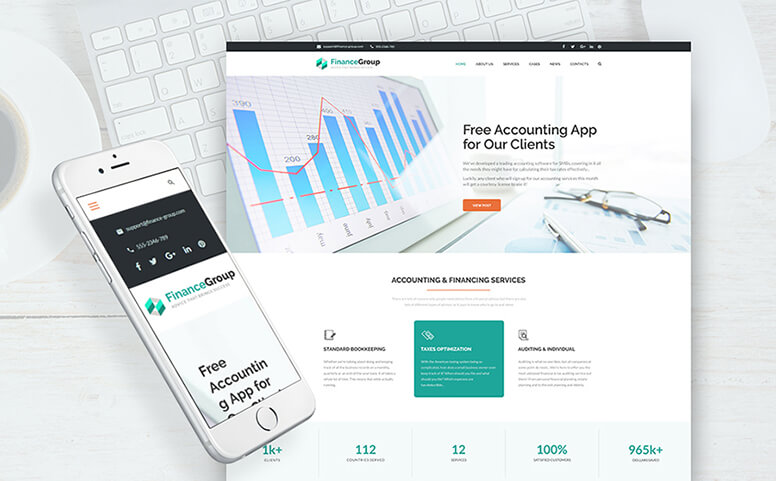 FinanceGroup - Accounting & Finance Business Responsive WordPress Theme