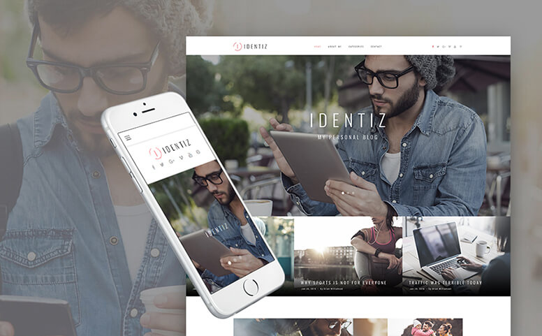Identiz - Personal Blog Responsive WordPress Theme