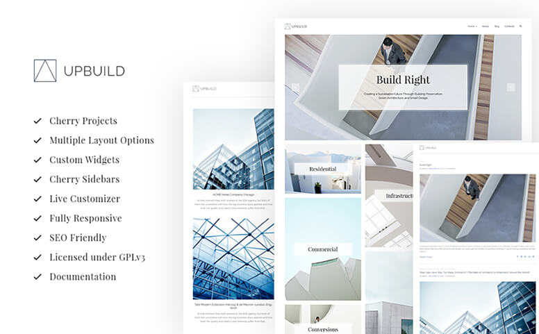 Upbuild - Architecture Firm Responsive WordPress Theme