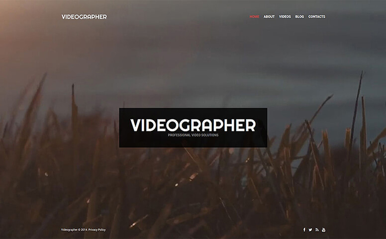 Videographer - Professional Video Solutions Responsive WordPress Theme