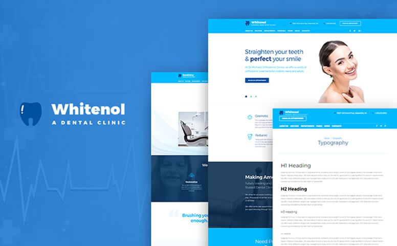 Whitenol - Dentistry Clinic WordPress Theme
