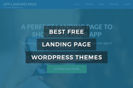 best free landing page WordPress theme