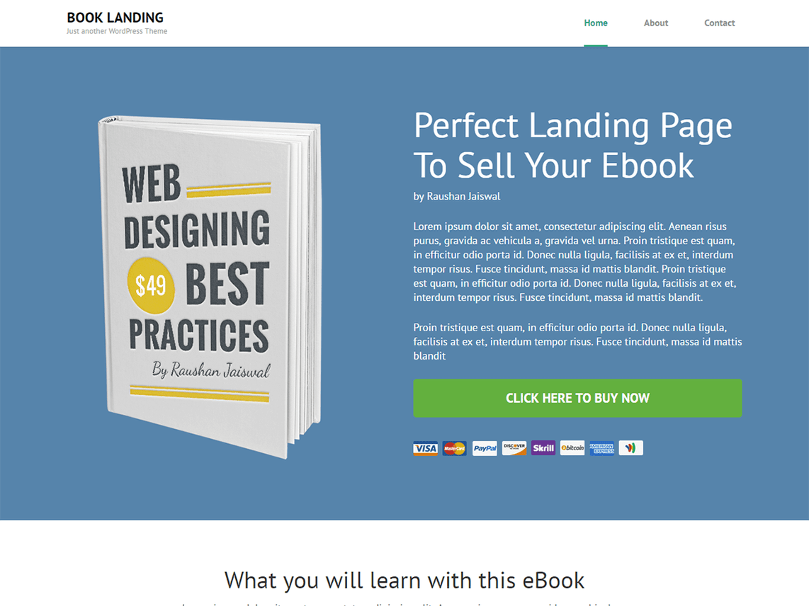 35 Best Free Landing Page Wordpress Themes Of 2017