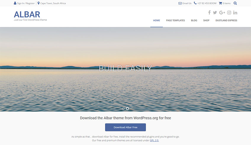 Albar Free WordPress Theme