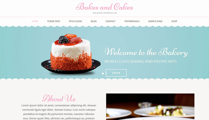 Bakes-and-cakes Free WordPress Theme