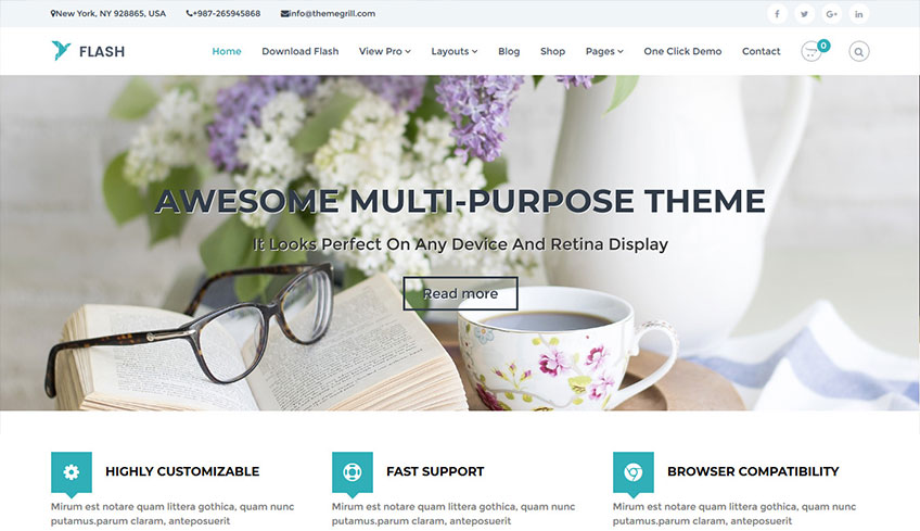 Flash Free WordPress Theme