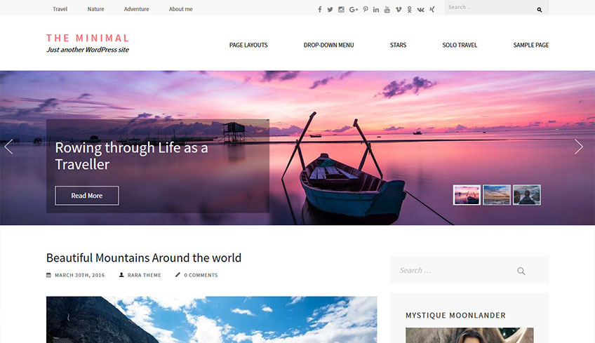 Minimal Free WordPress Theme