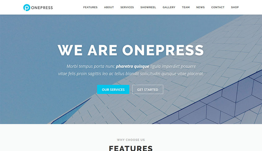 Onepress Free WordPress Theme
