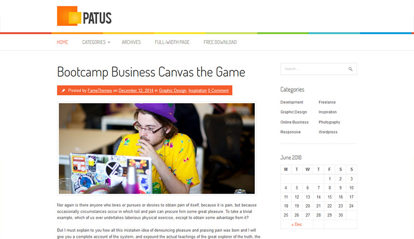 Patus Free WordPress Theme