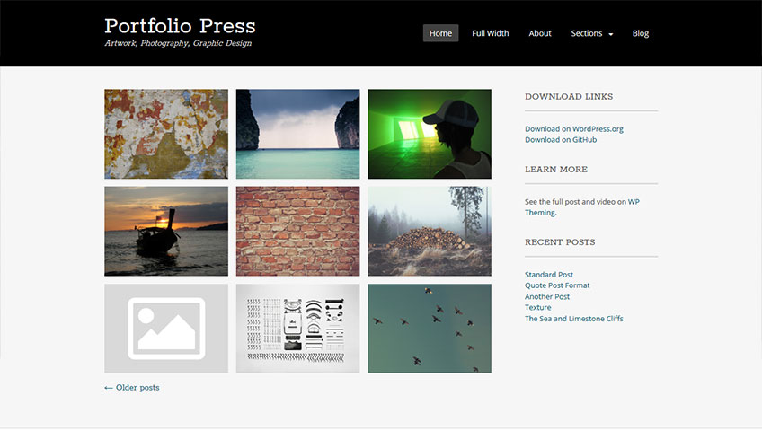 Portfolio-Press Free WordPress Theme