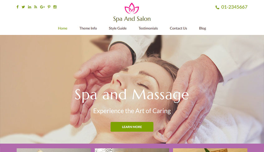 Spa-and-salon Free WordPress Theme