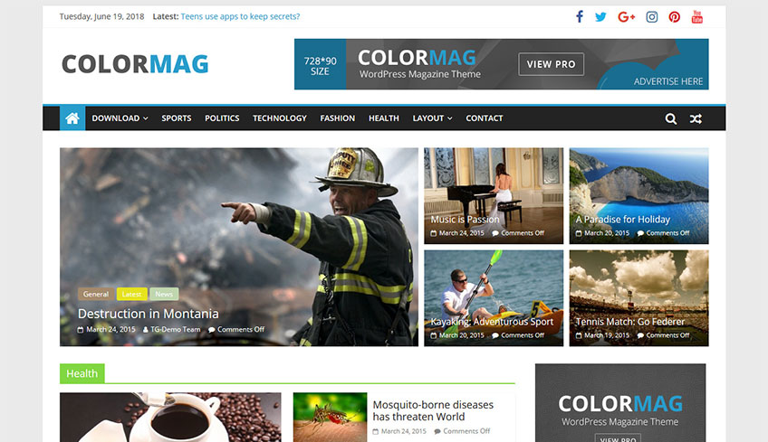 Colormag Free WordPress Theme