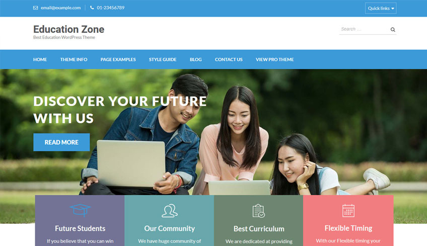 education zone free wordpress theme