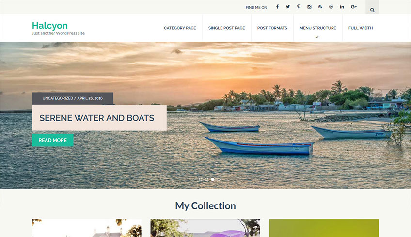 Halcyon Free WordPress Theme