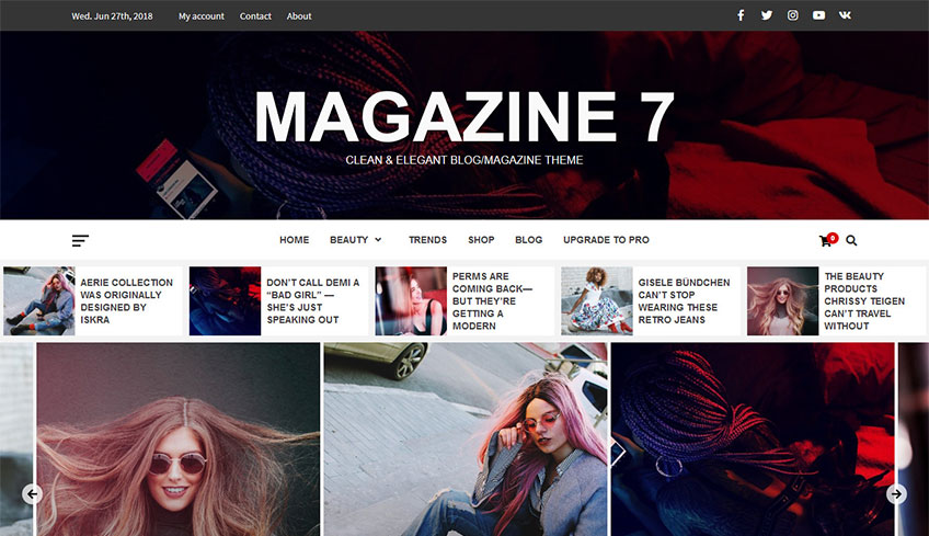 Magazine 7 Free WordPress Theme