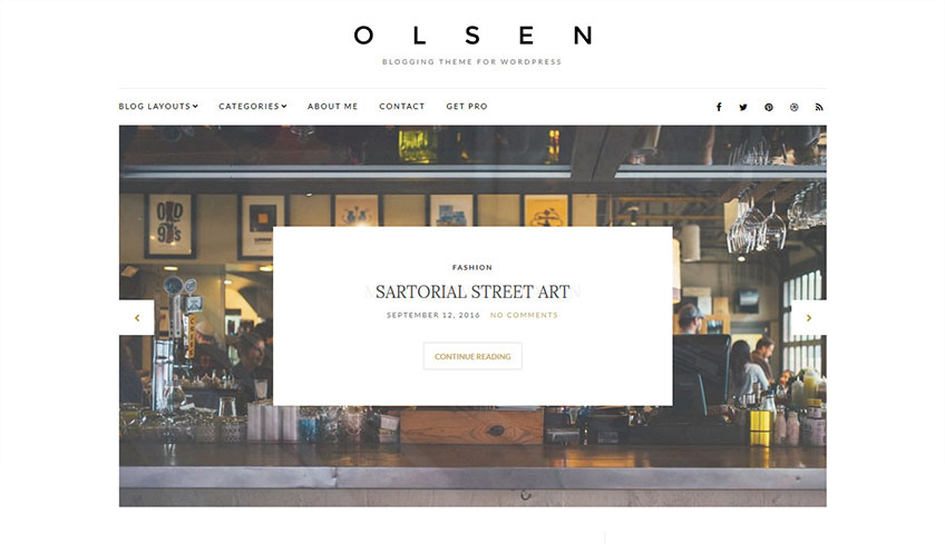 Olsen Free WordPress Theme