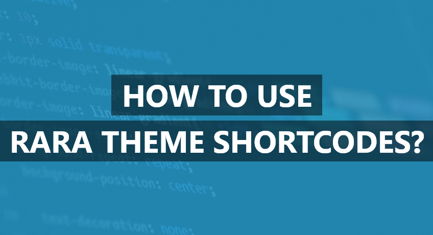 wordpress shortcodes rara theme