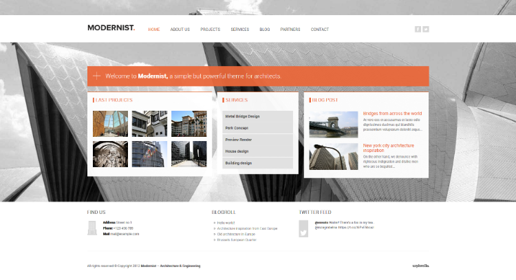 Modernist Home wp theme
