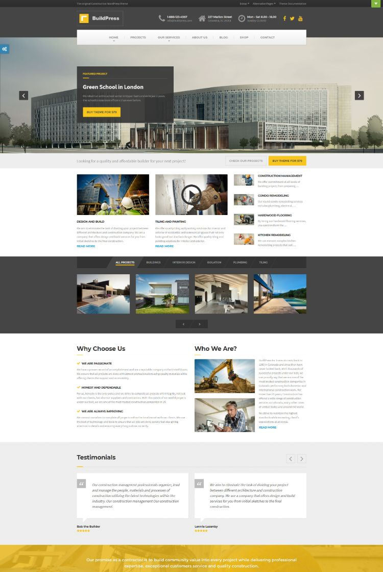 BuildPress – Construction WordPress Theme
