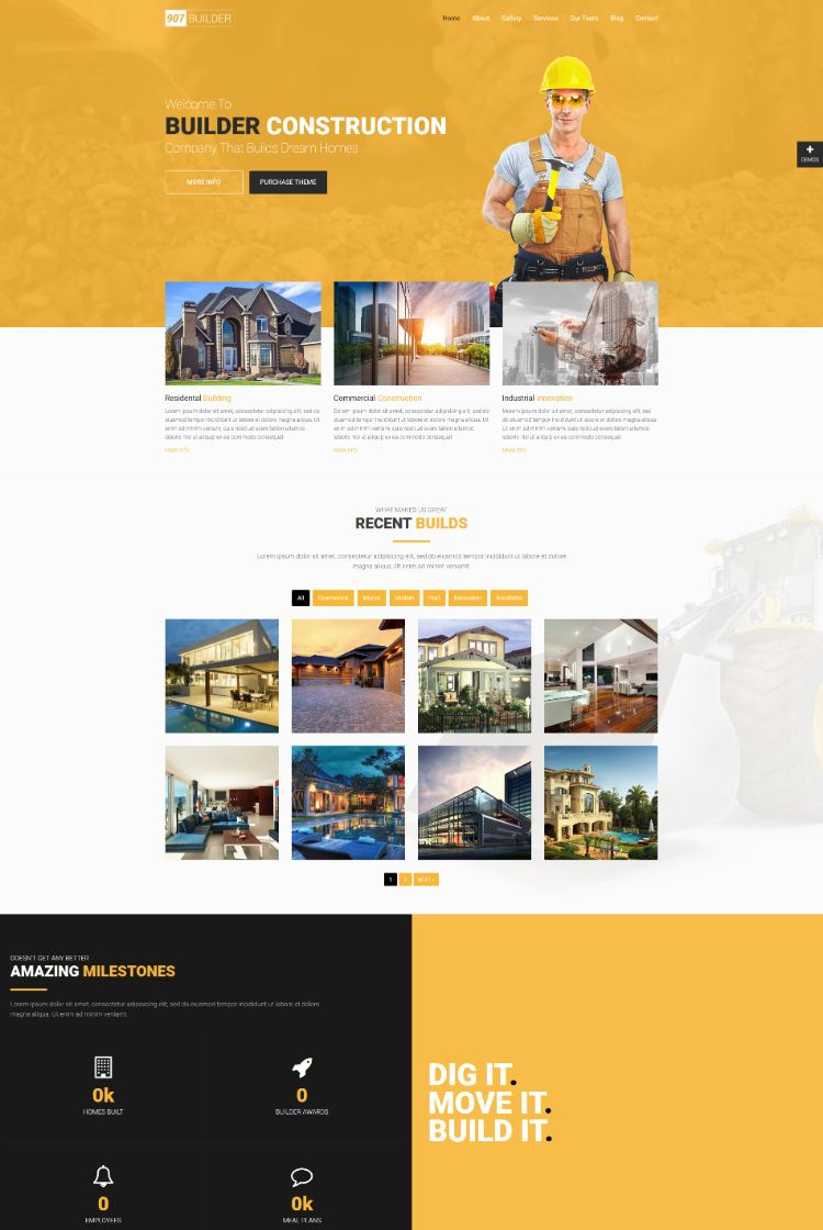 Construction – OnePage – Multi OnePage Parallax WordPress Theme