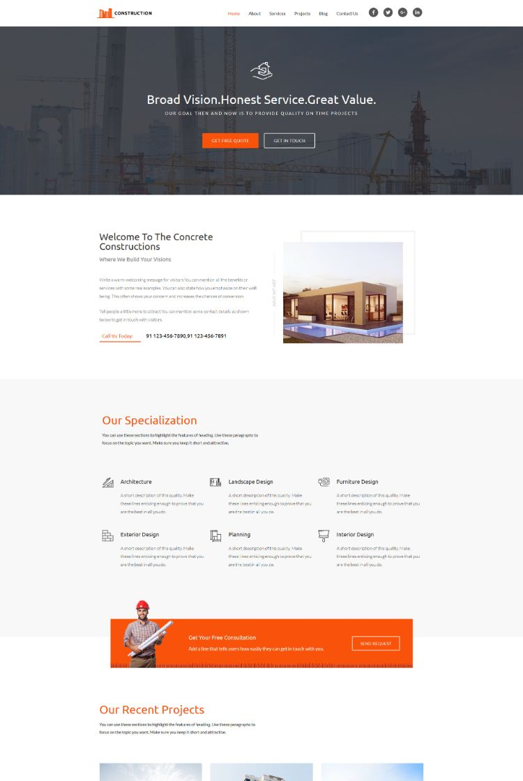 Home - Construction wordpress theme