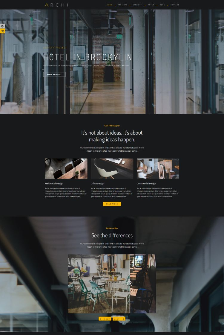 Home Studio Version – Interior Design WordPress Theme